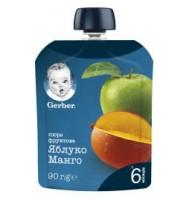 Ябълка и манго, от 6-ия месец, пауч, 90 g