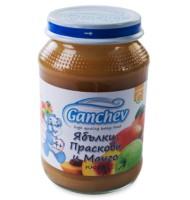 Ганчев- Пюре – ябълки, праскови и манго