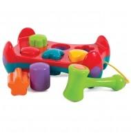 Активна играчка с форми за подреждане и чук (12-36м)
