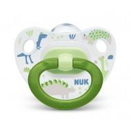 NUK биберон залъгалка силикон 6-18 мес. 1бр. Хепи Дейс + кутийка