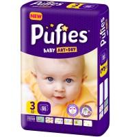 Pufies Baby art+dry 3 пелени 4-9кг. 66бр.