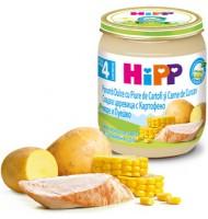 Hipp БИО Сладка царевица с картофено пюре и пуешко месо