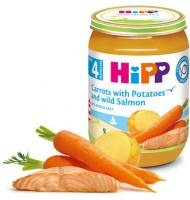 Hipp Сьомга с ранни моркови и картофи