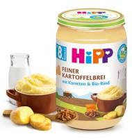 HiPP Био фино картофено пюре с моркови и телешко