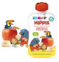 Hipp Био HiPPiS ябълка, банан & бебешки бисквити