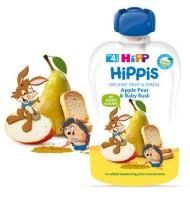 Hipp Био HiPPiS ябълка, круша & бебешки сухари