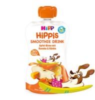 Hipp Био смути напитка ябълка и круша с морков и тиква