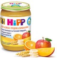 Hipp БИО Плодова каша с пълнозърнести култури