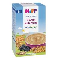 Hipp Млечна каша 5 зърна със сливи
