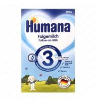 Humana 3 мляко с банани и ванилия 10+ мес. 600 гр.