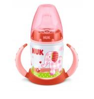NUK First Choice РР шише 150мл с накрайник силикон за сок BABYGLUCK червен 6+ м.