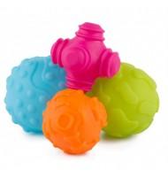 PLAYGRO Тактилни релефни топки (4бр./оп.) 6м+