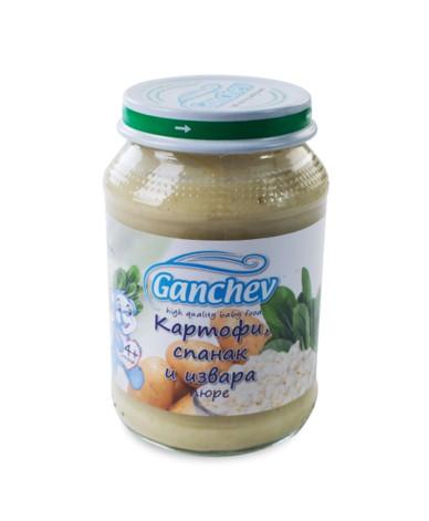 Ганчев -Пюре от картофи със спанак и извара