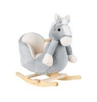 Люлка със седалка и звук Grey Horse