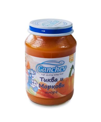 Ганчев- Пюре от тиква и моркови