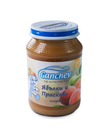 Ганчев-Пюре от ябълки и праскови