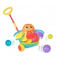 Активна играчка за бутане с топчета - Октопод (12-36м)