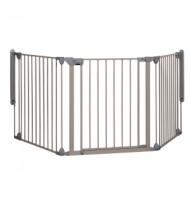 Модулна метална преграда-3 модула за отвори 82-214см, сива