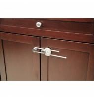 Устройство за заключване на шкаф с плъзгач (1 бр./оп.) – бял цвят