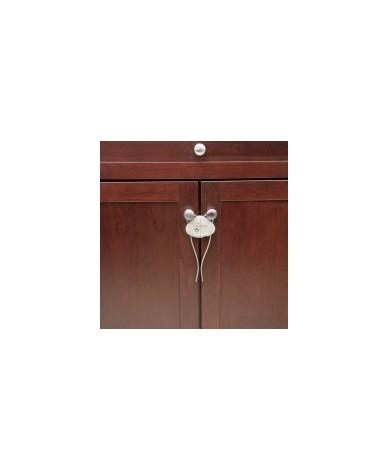 Устройство за заключване на шкаф с шнур (1 бр./оп.) – бял цвят