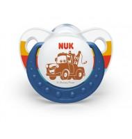 NUK биберон залъгалка силикон 6-18 м. 1бр CARS