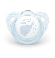 NUK биберон залъгалка силикон 0-6мес. 1бр BLUE
