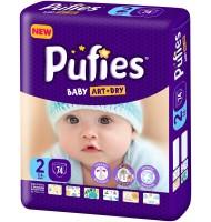 Pufies Baby art+dry 2 пелени 3-6кг. 76бр.