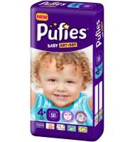 Pufies Baby art+dry 4+ пелени 9-16кг. 50бр.