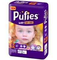 Pufies Baby art+dry 6 пелени 13кг. 42бр.