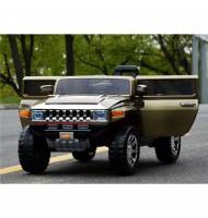Акумулаторен джип Hummer-зелен