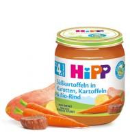 HiPP Био моркови с картофи и сладки картофи с телешко