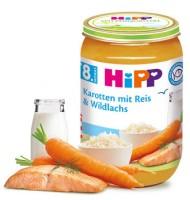 Hipp Рибно меню с моркови, ориз и дива сьомга