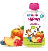 Hipp Био HiPPiS ябълка и праскова с горски плодове