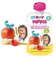 HippБио HiPPiS ябълка, банан, малина с пълнозърнести култури