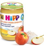 Hipp БИО Праскова и ябълка с пълнозърнест ориз