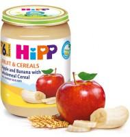 Hipp БИО Ябълки и банани с пълнозърнести култури