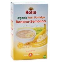 Holle био безмлечна каша грис и банан 4+м. 250г