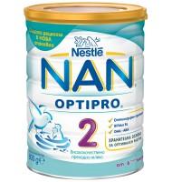 NAN 2 optipro преходно мляко 6+ мес. 800 гр.