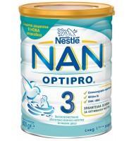 NAN optipro 3 мляко за малки деца 1-2 год. 800 гр.